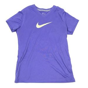 Girls purple Nike dri-fit neon athletic t-shirt
